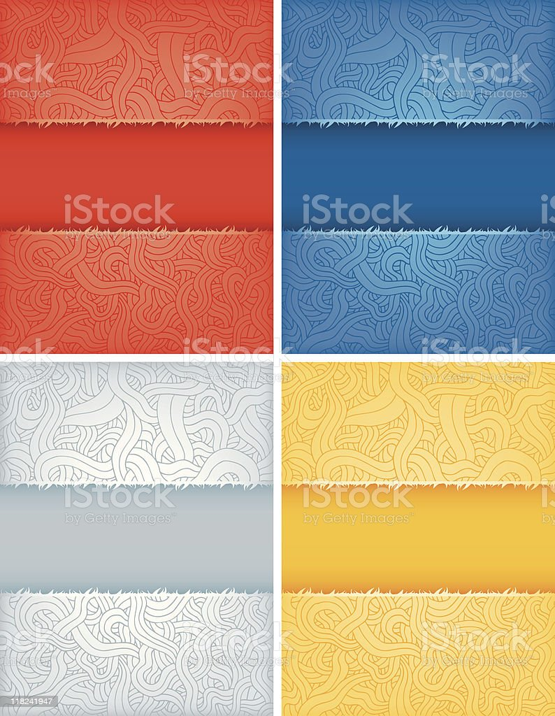 Squiggly Paper Frame royalty-free stock vector art
