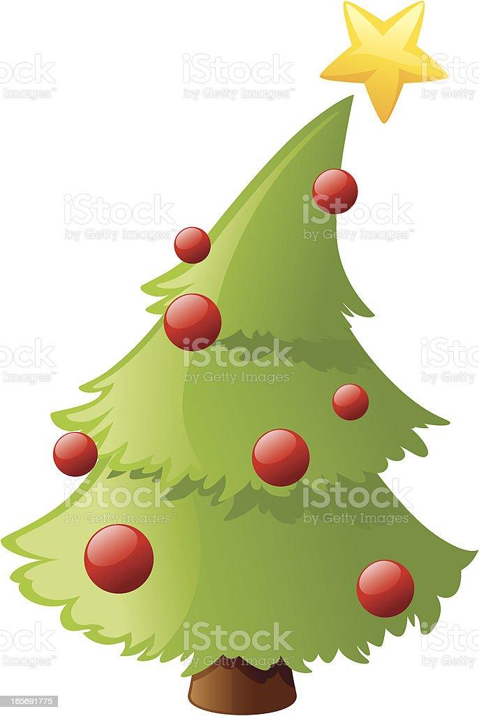 Squinty Tree royalty-free stock vector art