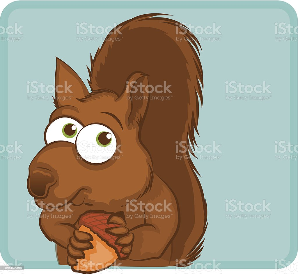 Squirrel Cartoon Character royalty-free stock vector art