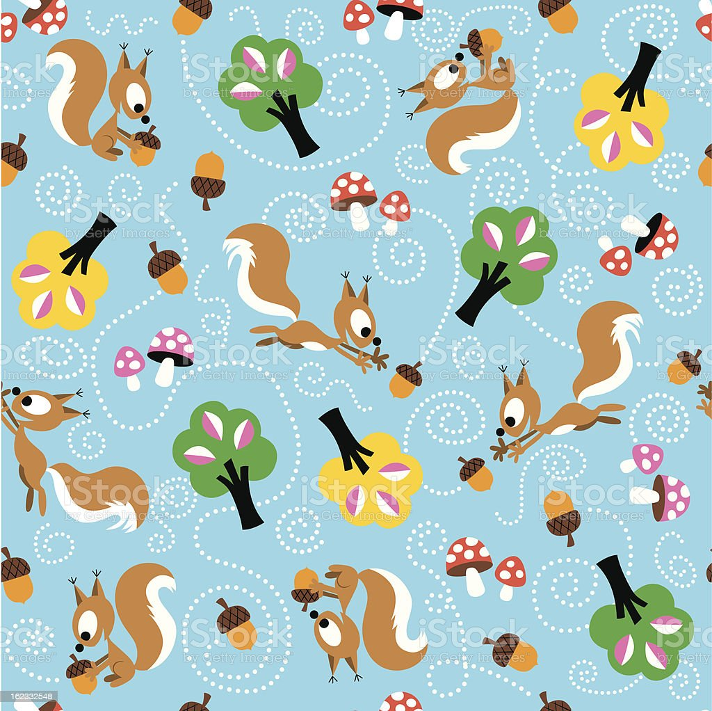 squirrel pattern royalty-free stock vector art