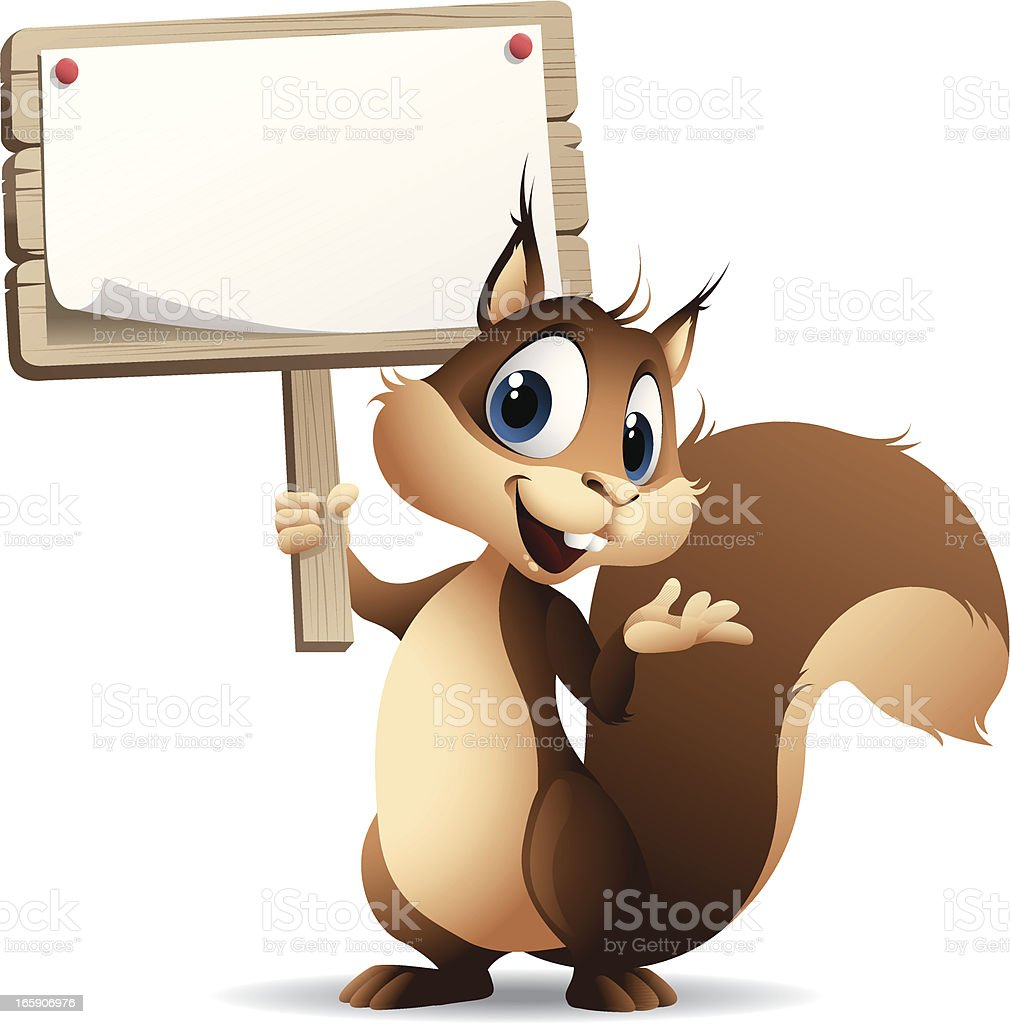 Squirrel - sign royalty-free stock vector art