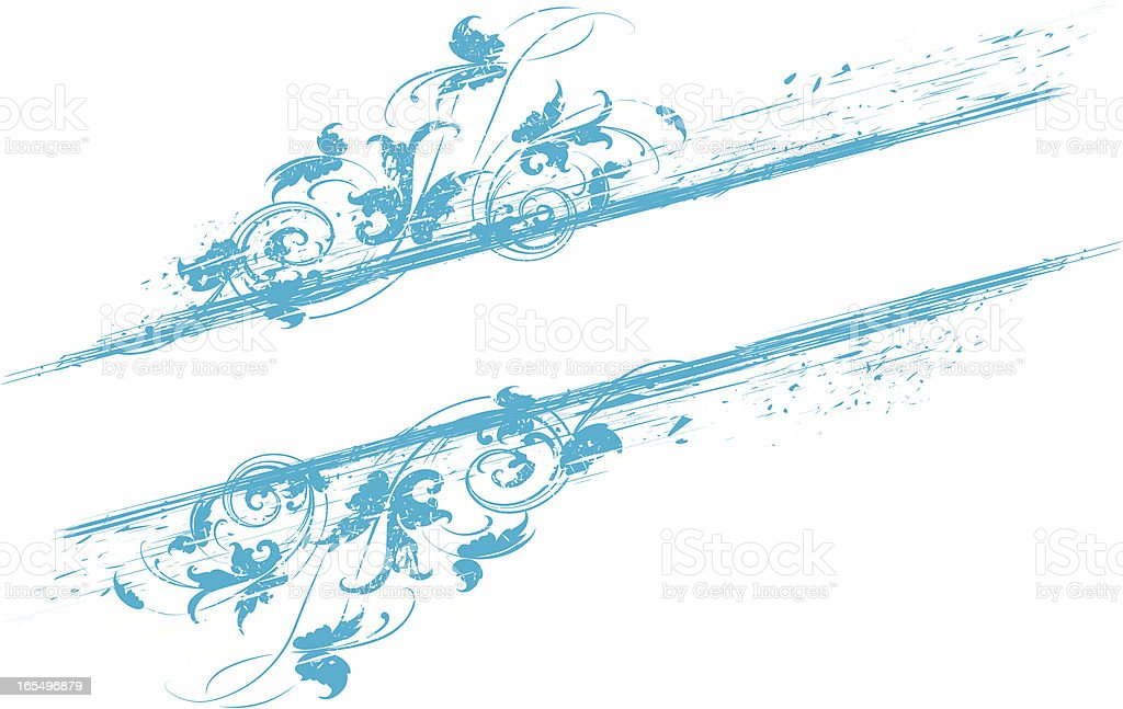 Sratchy Scroll Banner royalty-free stock vector art