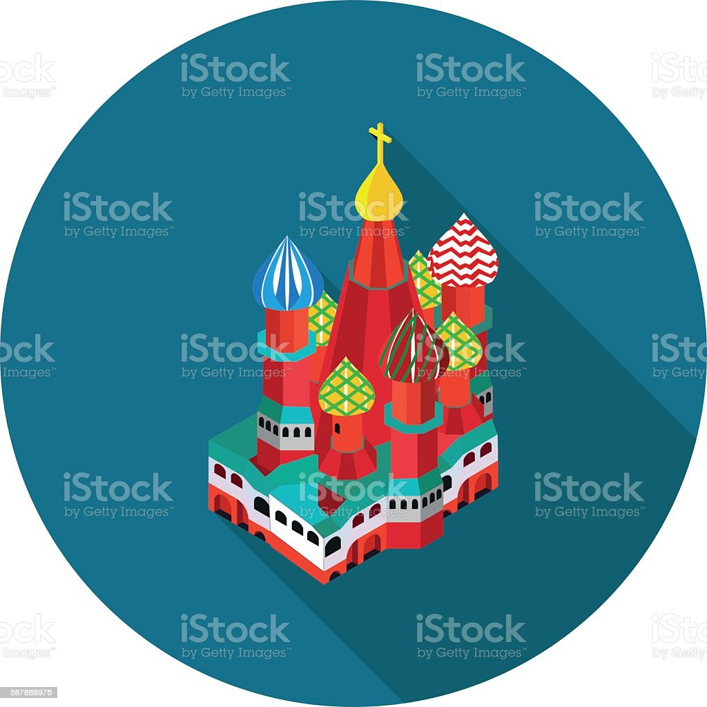 St. Basil is Cathedral vector art illustration