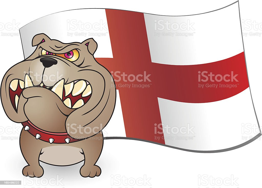 St George Bulldog royalty-free stock vector art