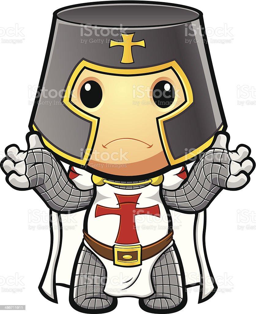 St George Knight Looking Unsure vector art illustration