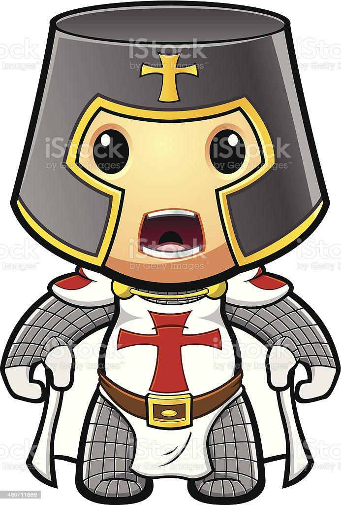 St George Knight Shouting vector art illustration