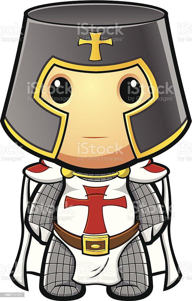 St George Knight Standing Still vector art illustration