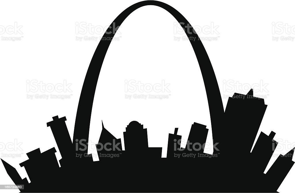 St. Louis Cartoon City vector art illustration