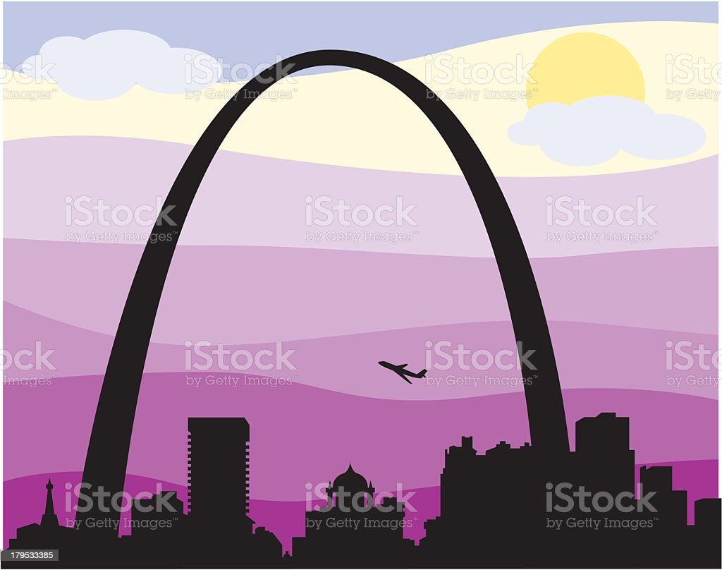 St. Louis Skyline royalty-free stock vector art