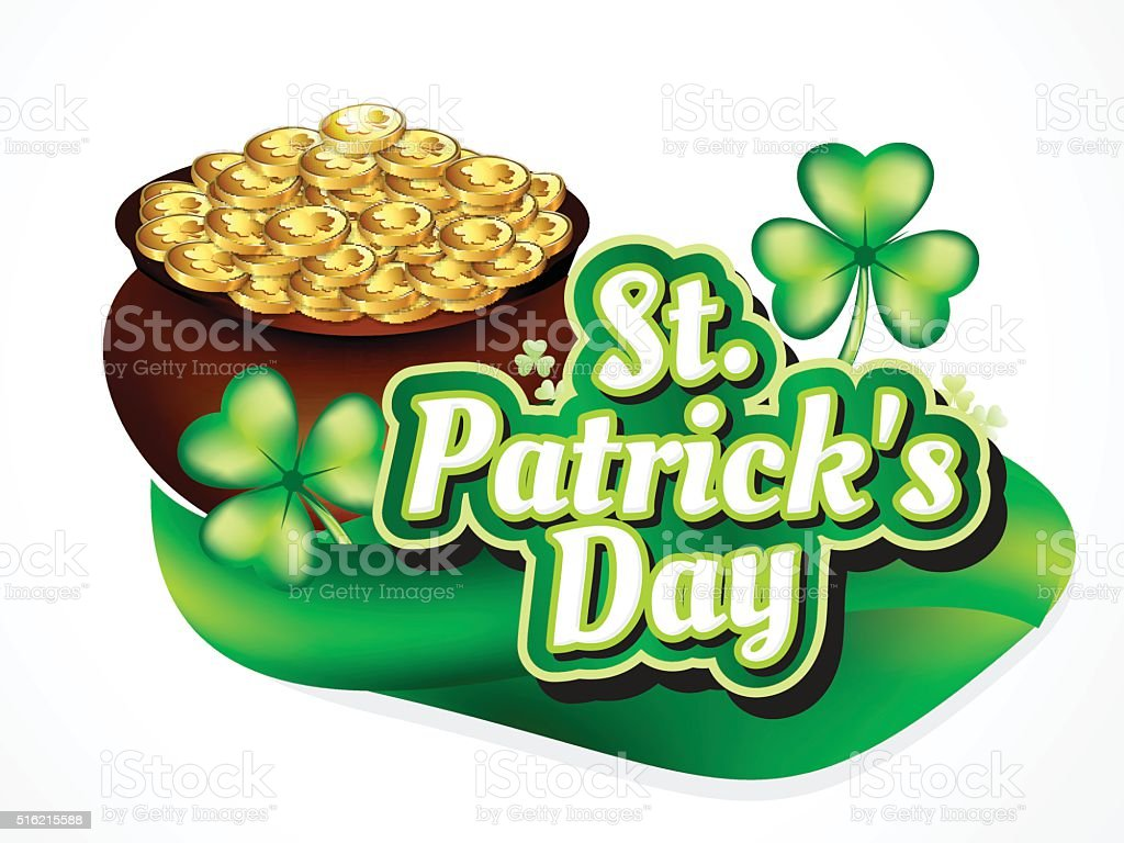 st par tick's Day Background with Coin vector art illustration