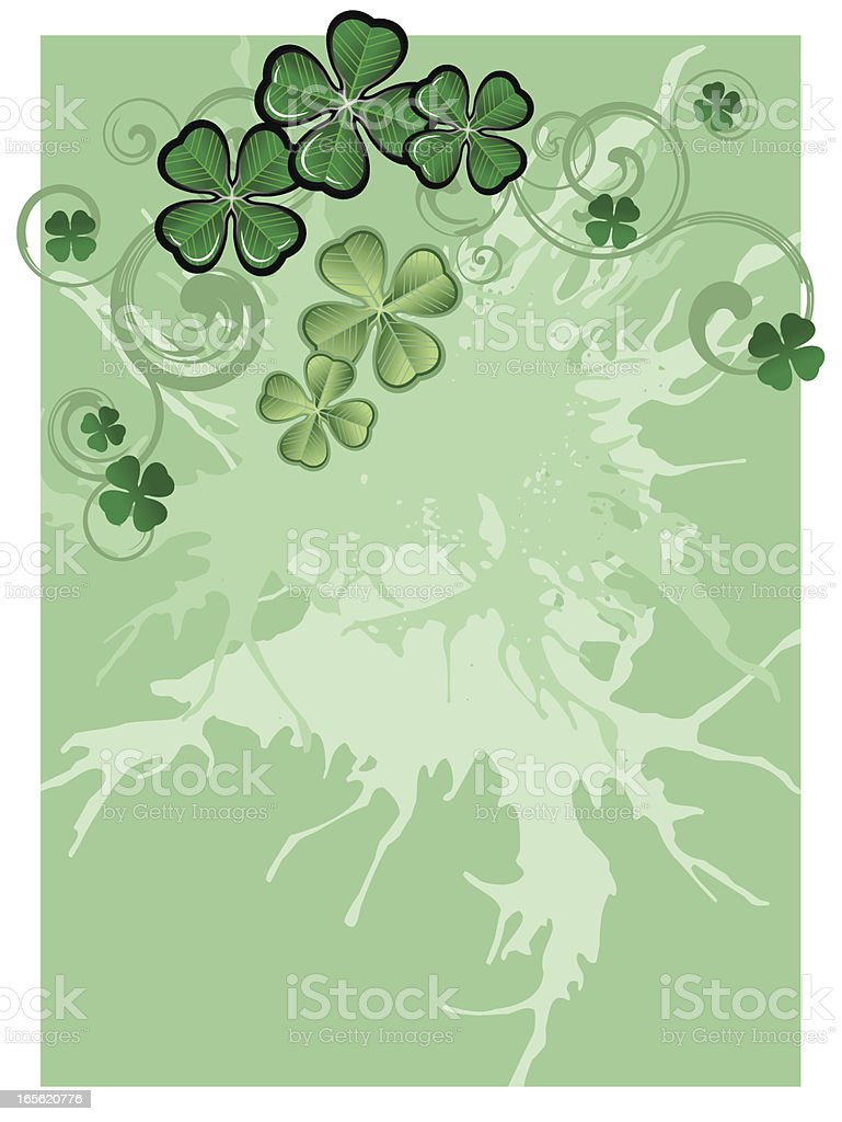 st. patrick background royalty-free stock vector art