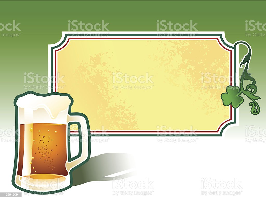 st. patrick banner royalty-free stock vector art