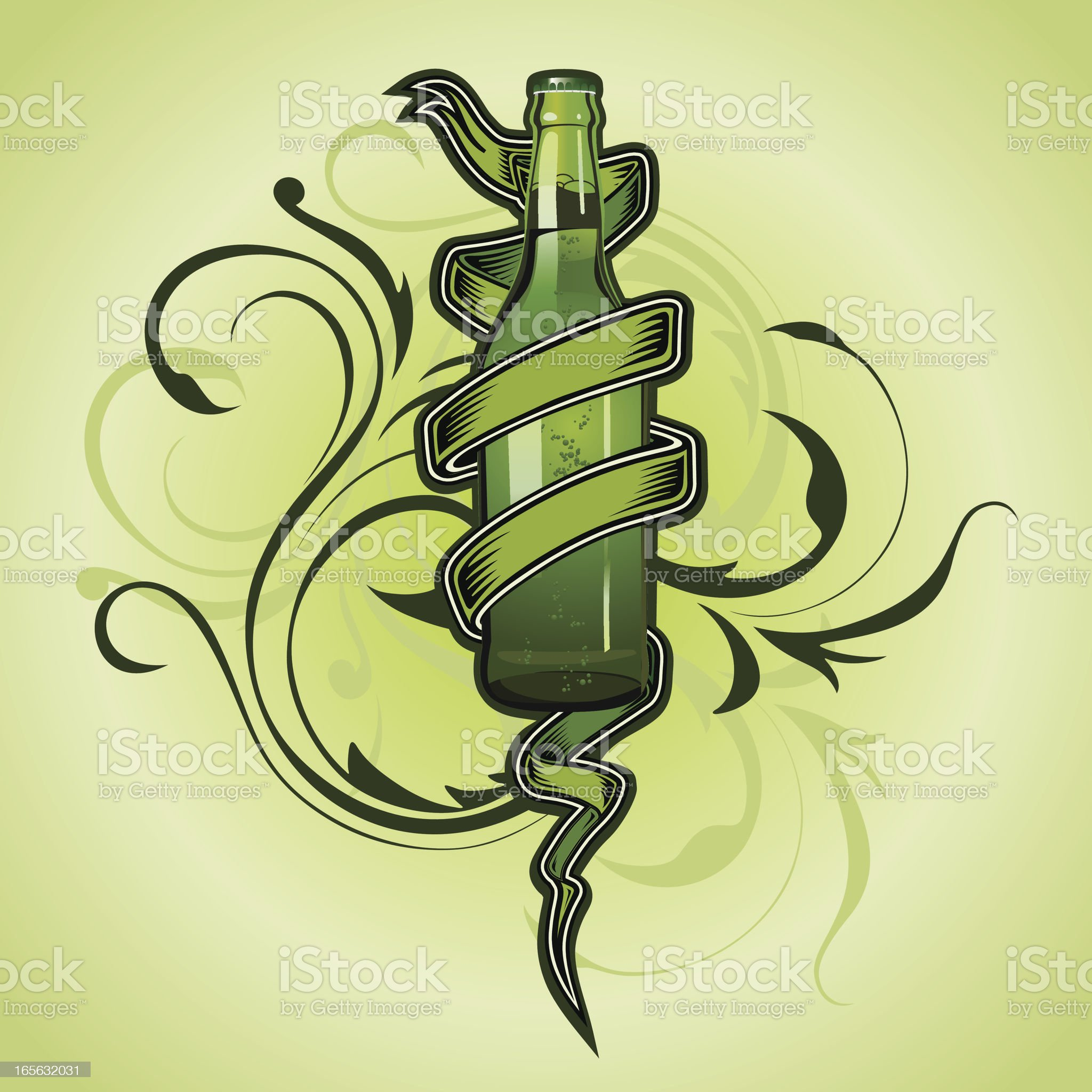 St. Patrick beer tattoo royalty-free stock vector art