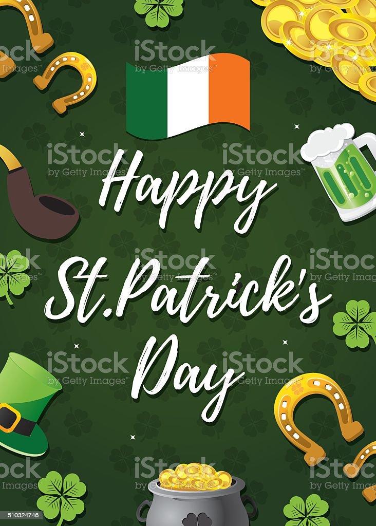Fond de jour de Saint Patrick stock vecteur libres de droits libre de droits