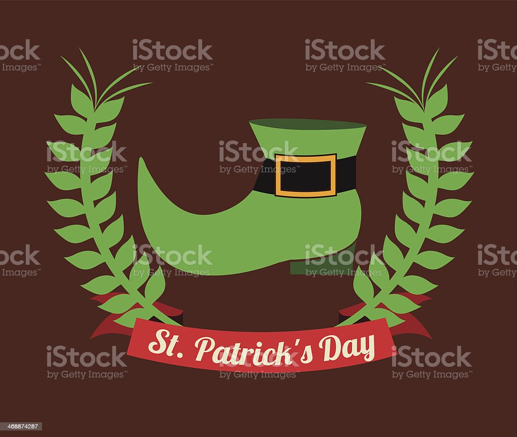 St Patrick  Day royalty-free stock vector art