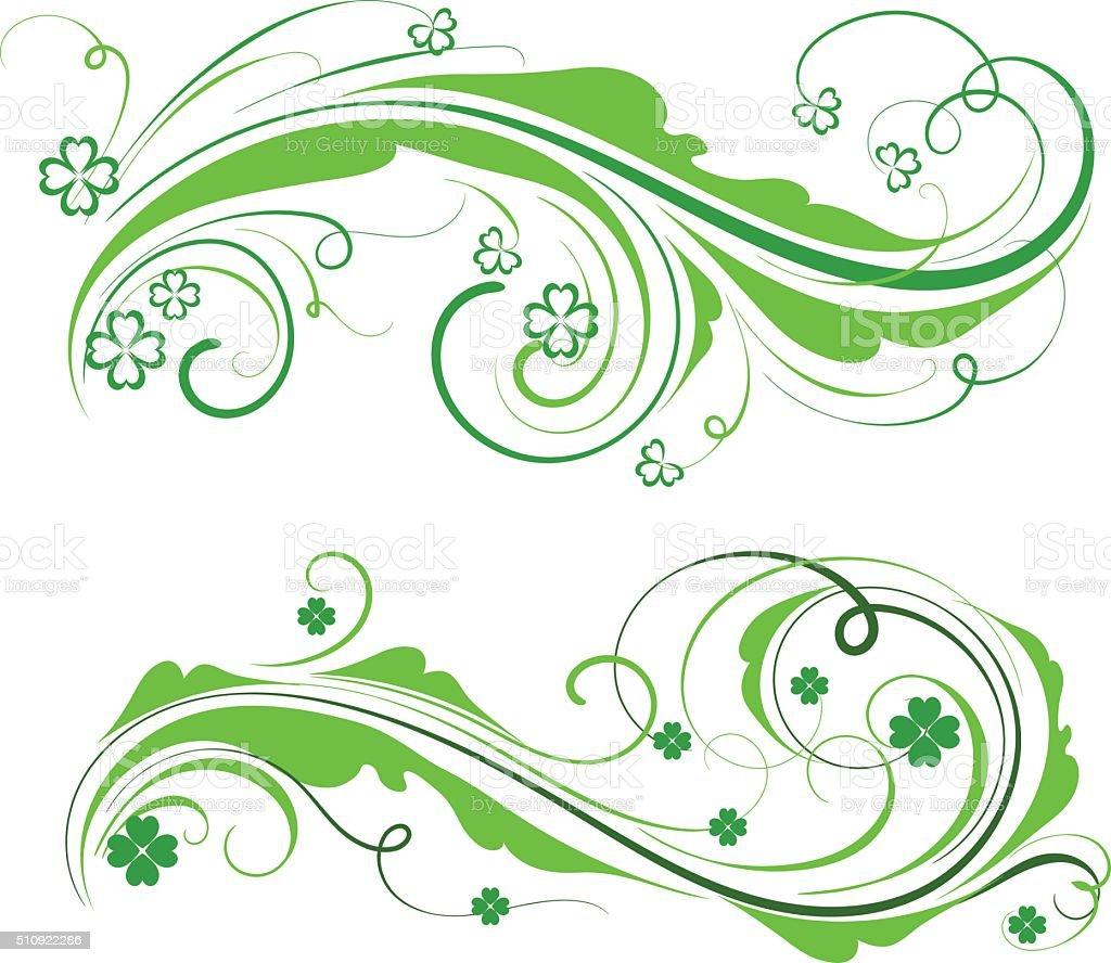 St Patrick ornament vector art illustration