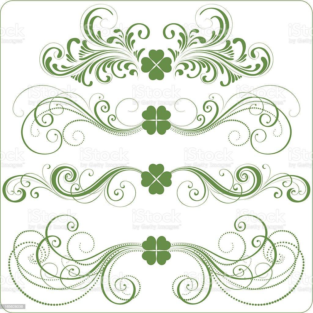 St Patrick ornaments royalty-free stock vector art