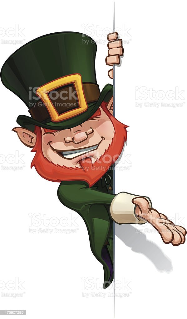 St. Patrick Presenting a Banner royalty-free stock vector art
