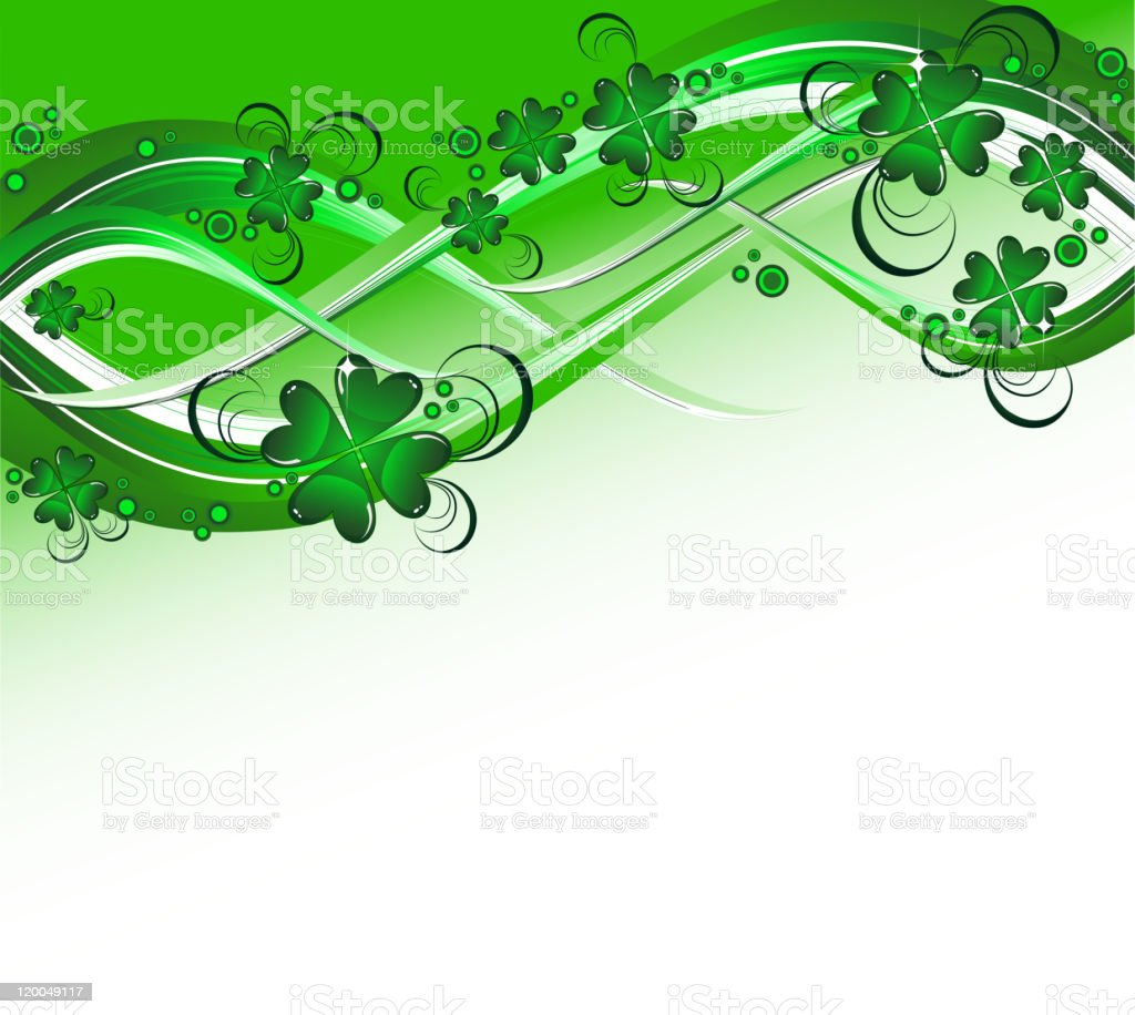 St. Patrick's background royalty-free stock vector art