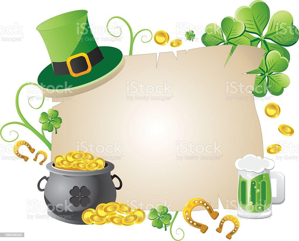 Bannière de Saint-Patrick stock vecteur libres de droits libre de droits