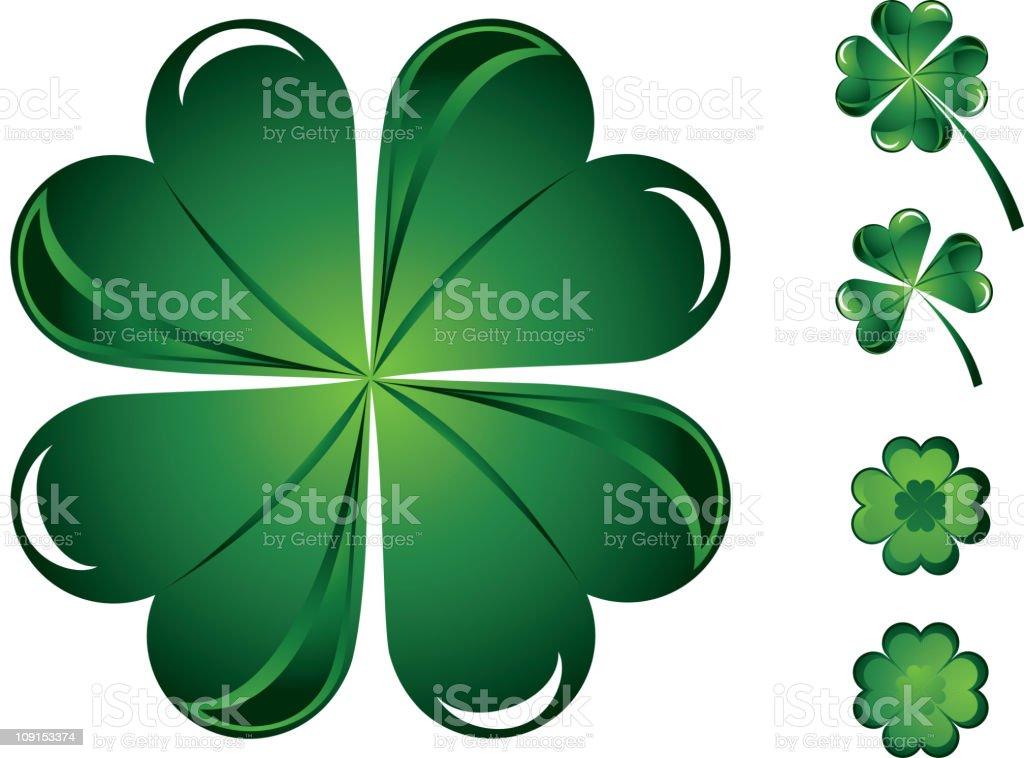 St. Patrick's clover royalty-free stock vector art