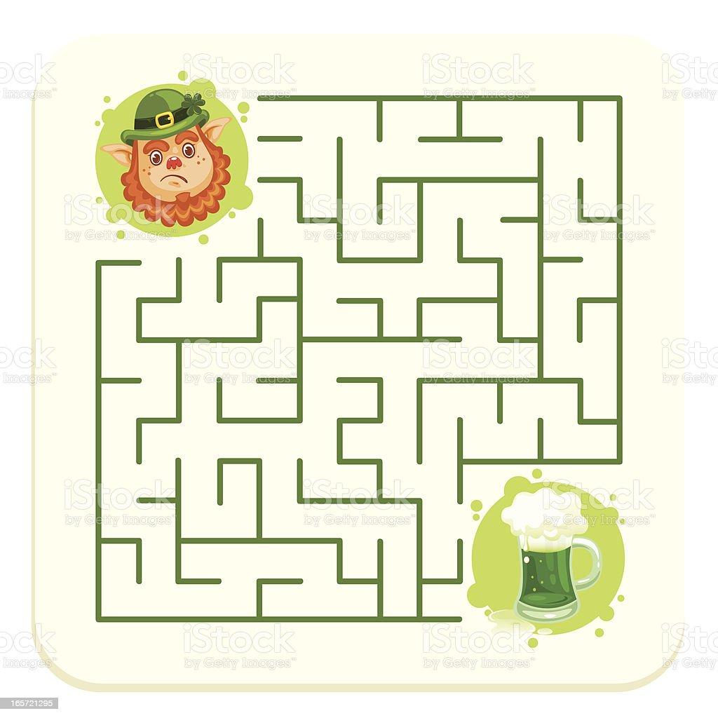 St. Patrick's Coaster vector art illustration