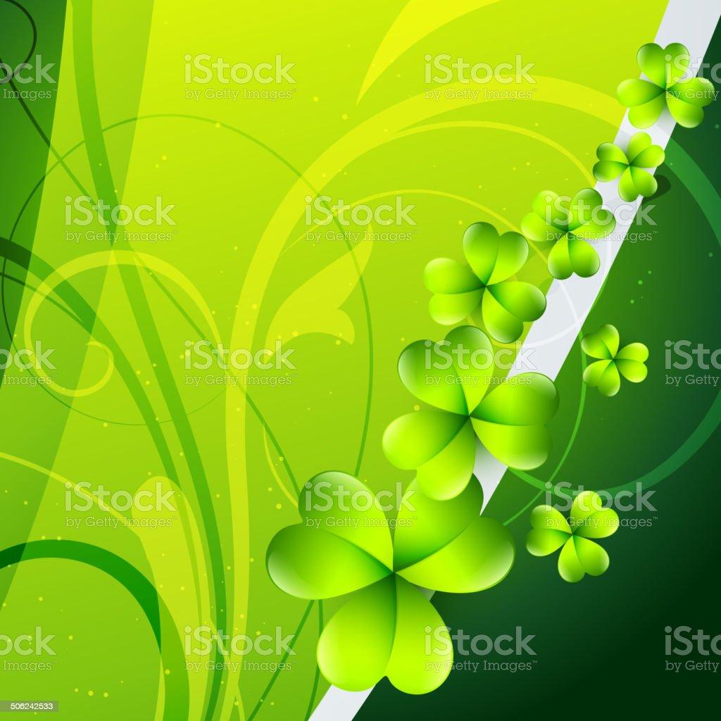 st patrick's day background vector art illustration