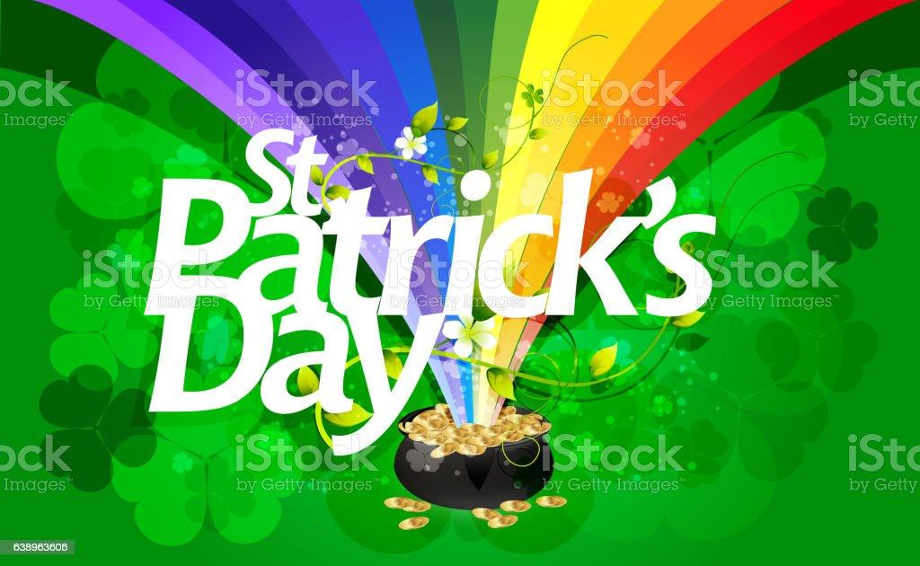 St Patricks Day Background vector art illustration