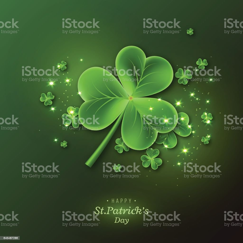 St. Patrick's Day background. vector art illustration