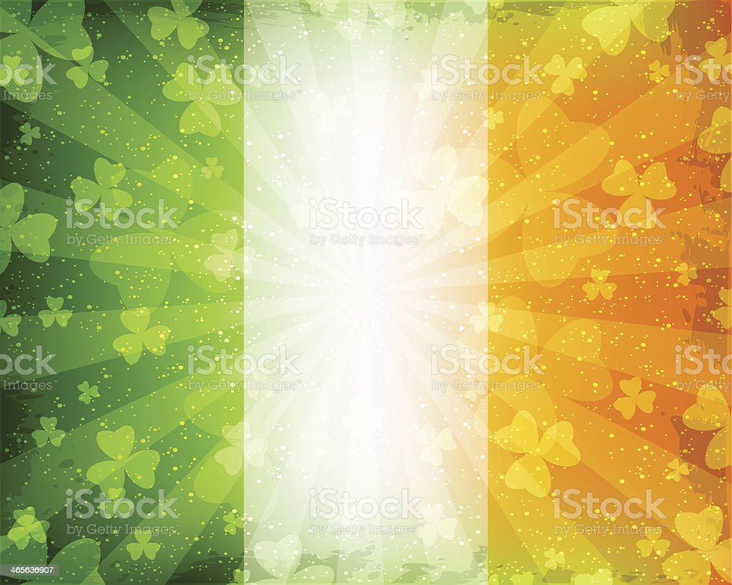 St Patrick's Day background with shamrocks vector art illustration