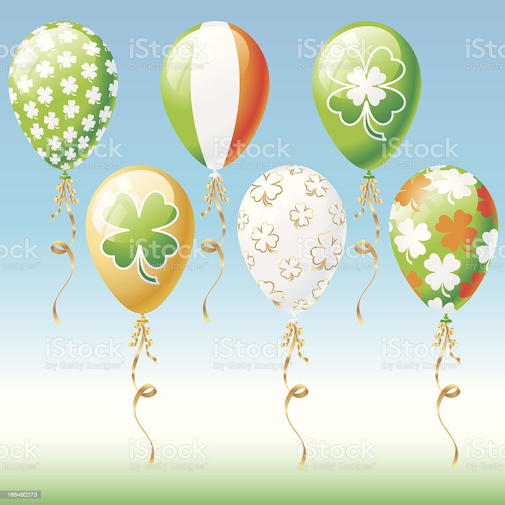 St. Patrick's Day Balloons royalty-free stock vector art
