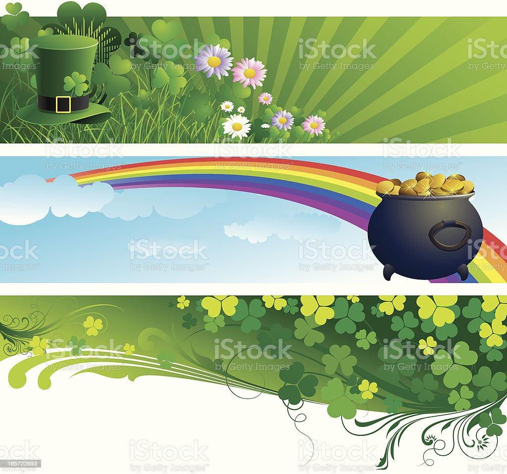 St Patrick's day  Banner royalty-free stock vector art