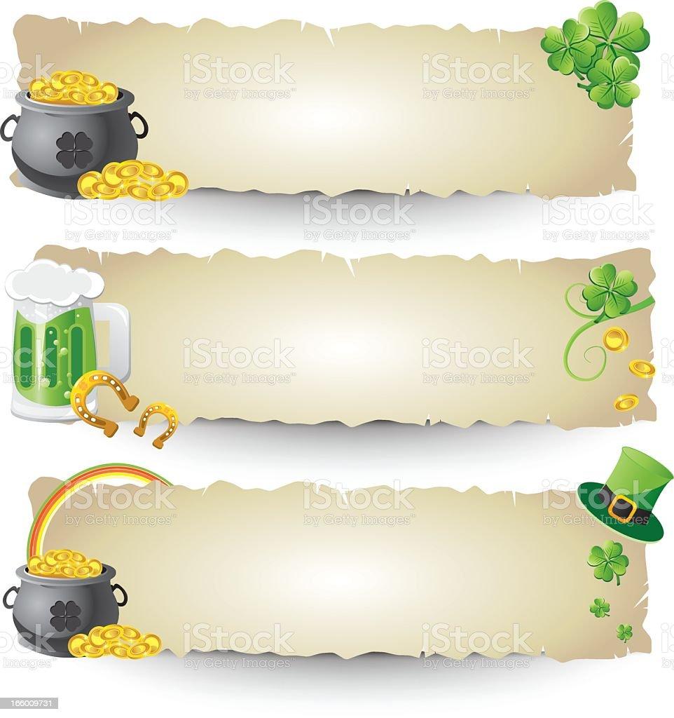 Bannières de jour de Saint Patrick stock vecteur libres de droits libre de droits