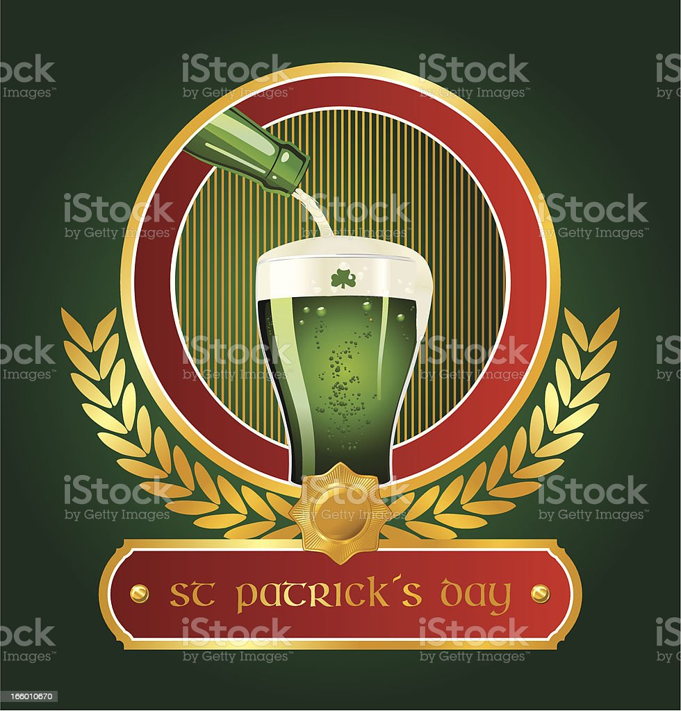 St. Patrick's Day beer poster vector art illustration