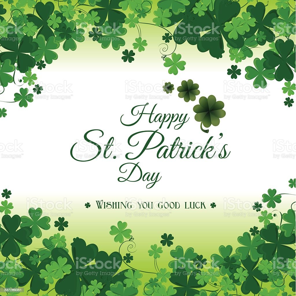 St patricks day card design, vector illustration. vector art illustration