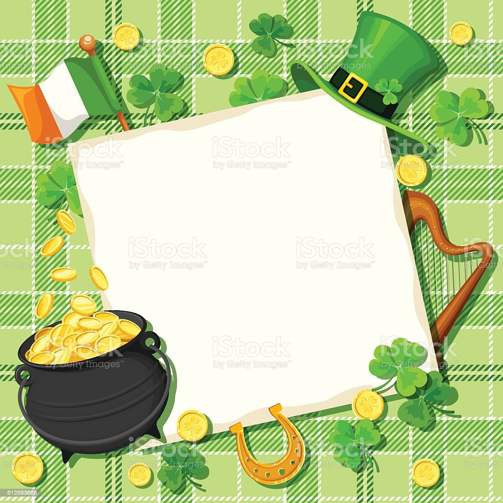St. Patrick's day card. Vector eps-10. vector art illustration