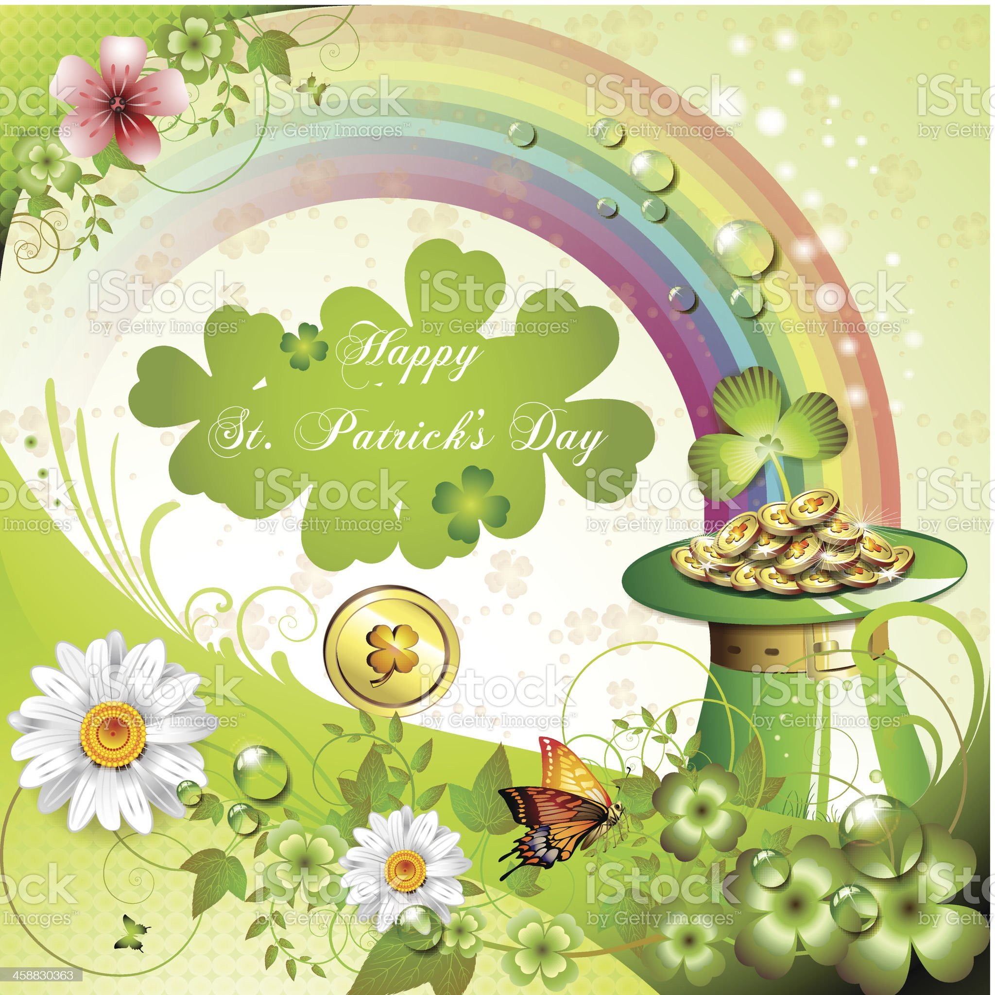St. Patrick's Day card royalty-free stock vector art