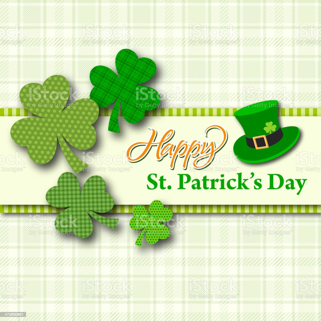St Patrick's Day Card vector art illustration