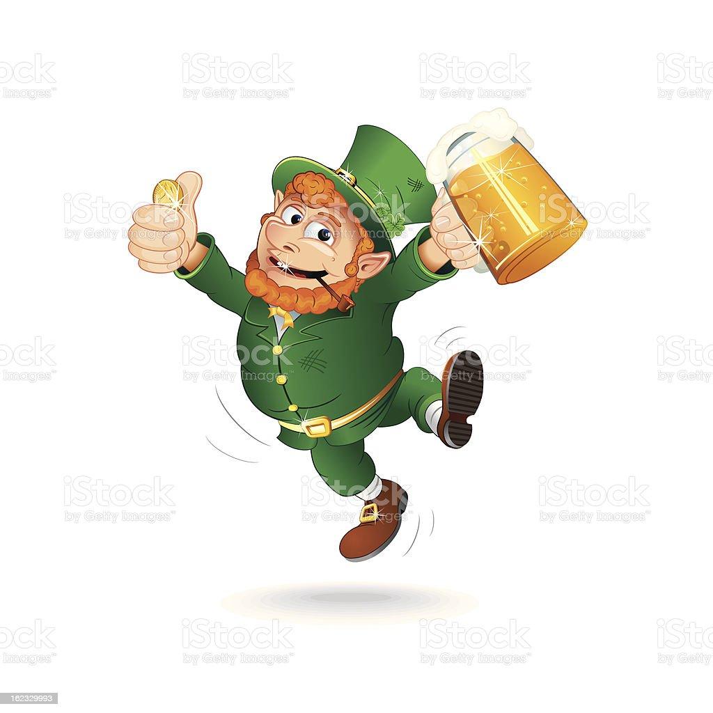 St. Patrick's Day Cartoon Leprechaun. Isolated Vector Image royalty-free stock vector art