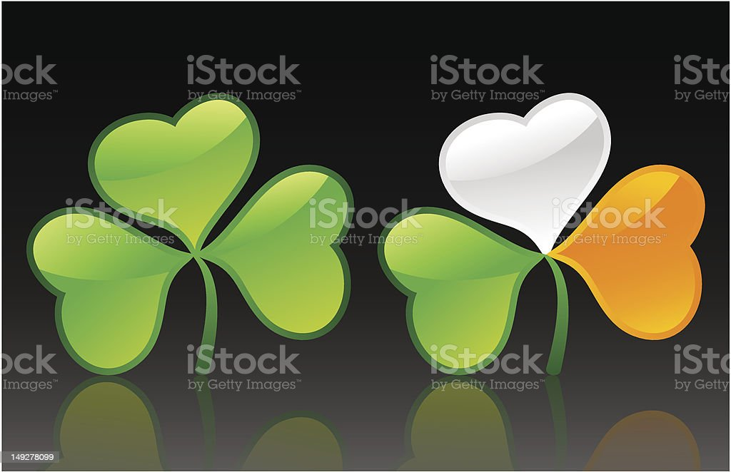 St. Patrick's day clover royalty-free stock vector art