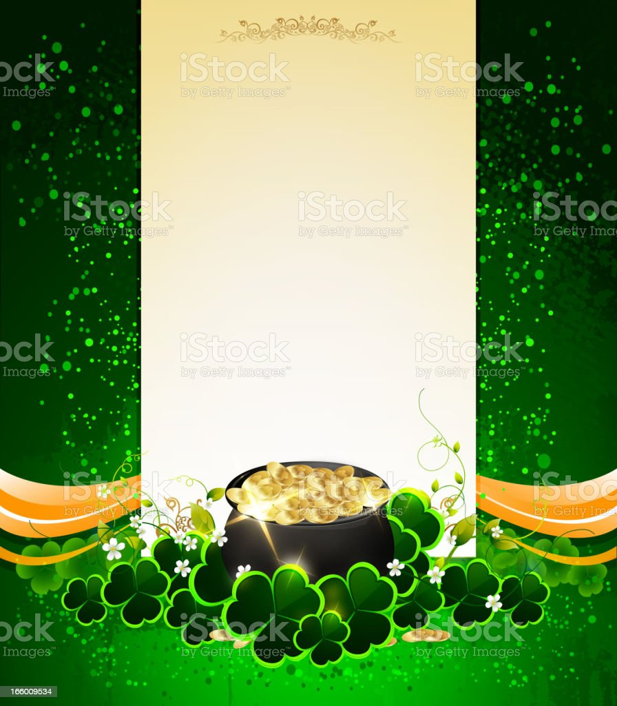 St Patrick's Day - Copy Space Note royalty-free stock vector art