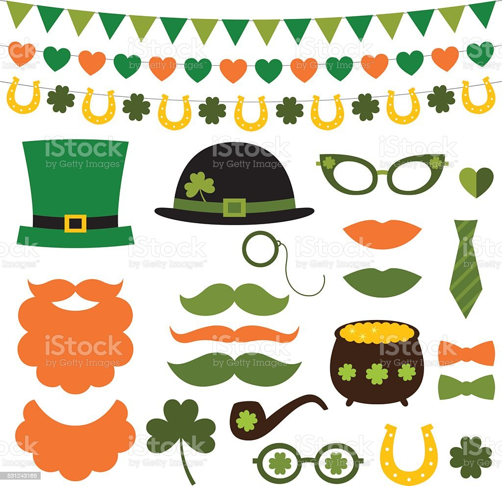 St. Patrick's Day design elements vector art illustration