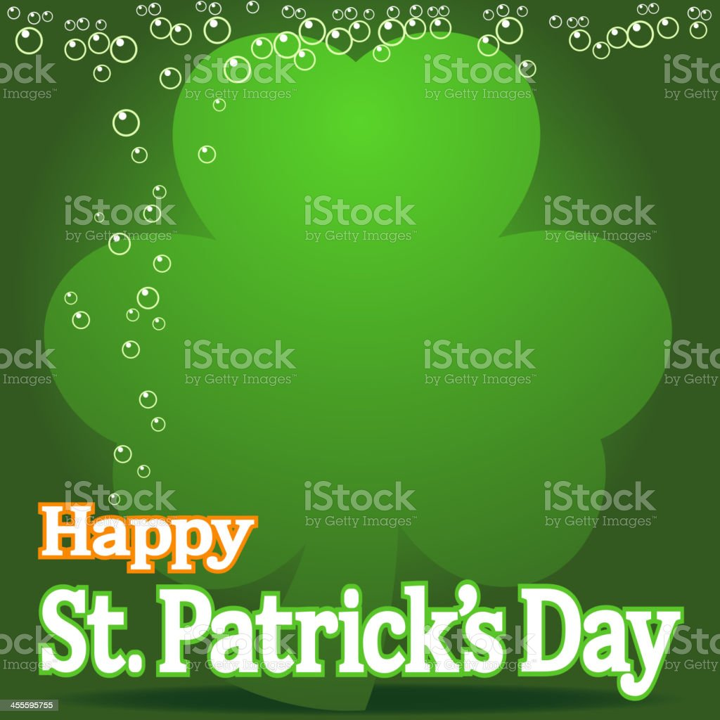 St Patrick's Day Drunk royalty-free stock vector art