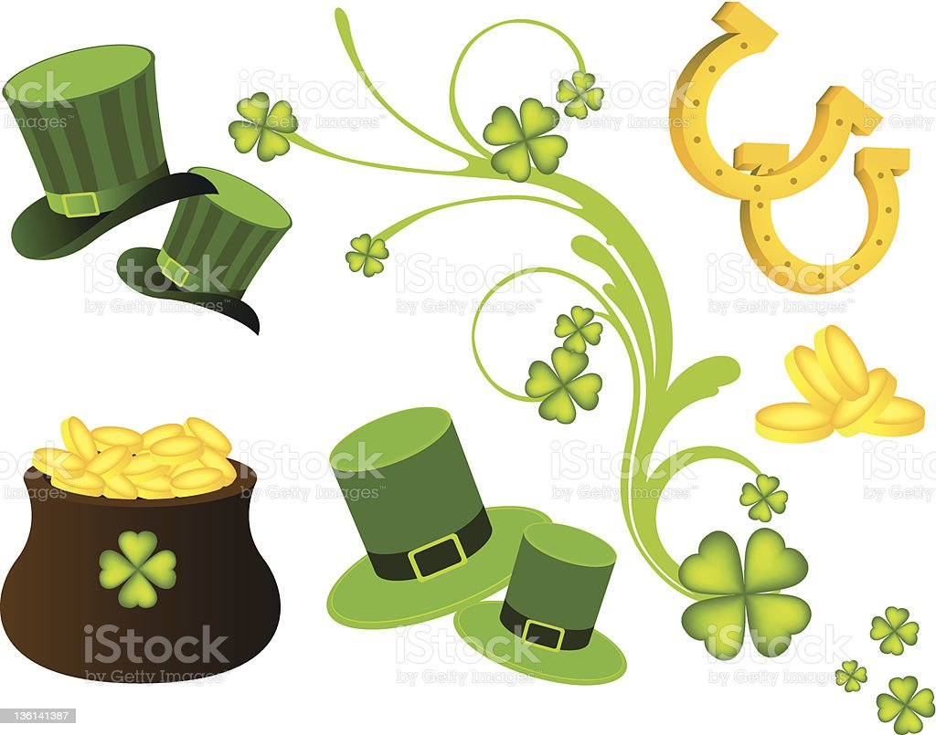 St. Patrick's Day elements royalty-free stock vector art