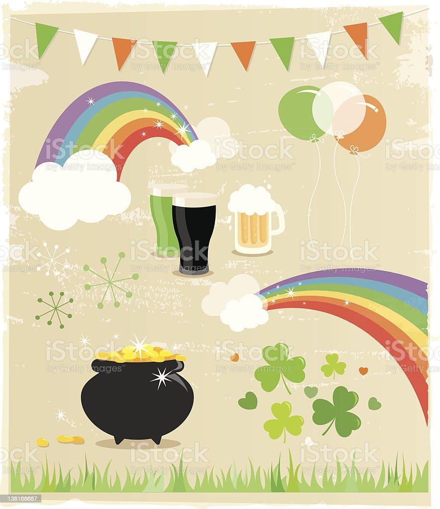 St. Patricks Day Elements stock photo