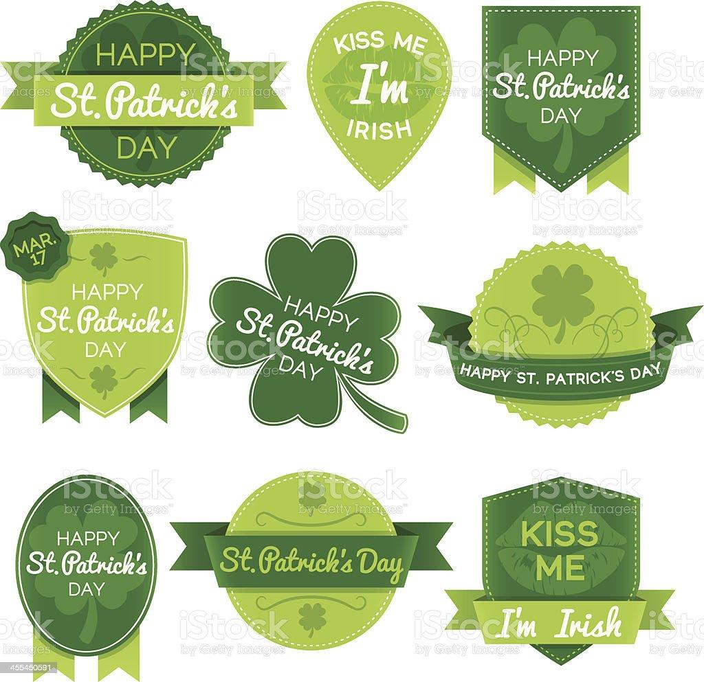 St. Patricks Day Elements royalty-free stock vector art