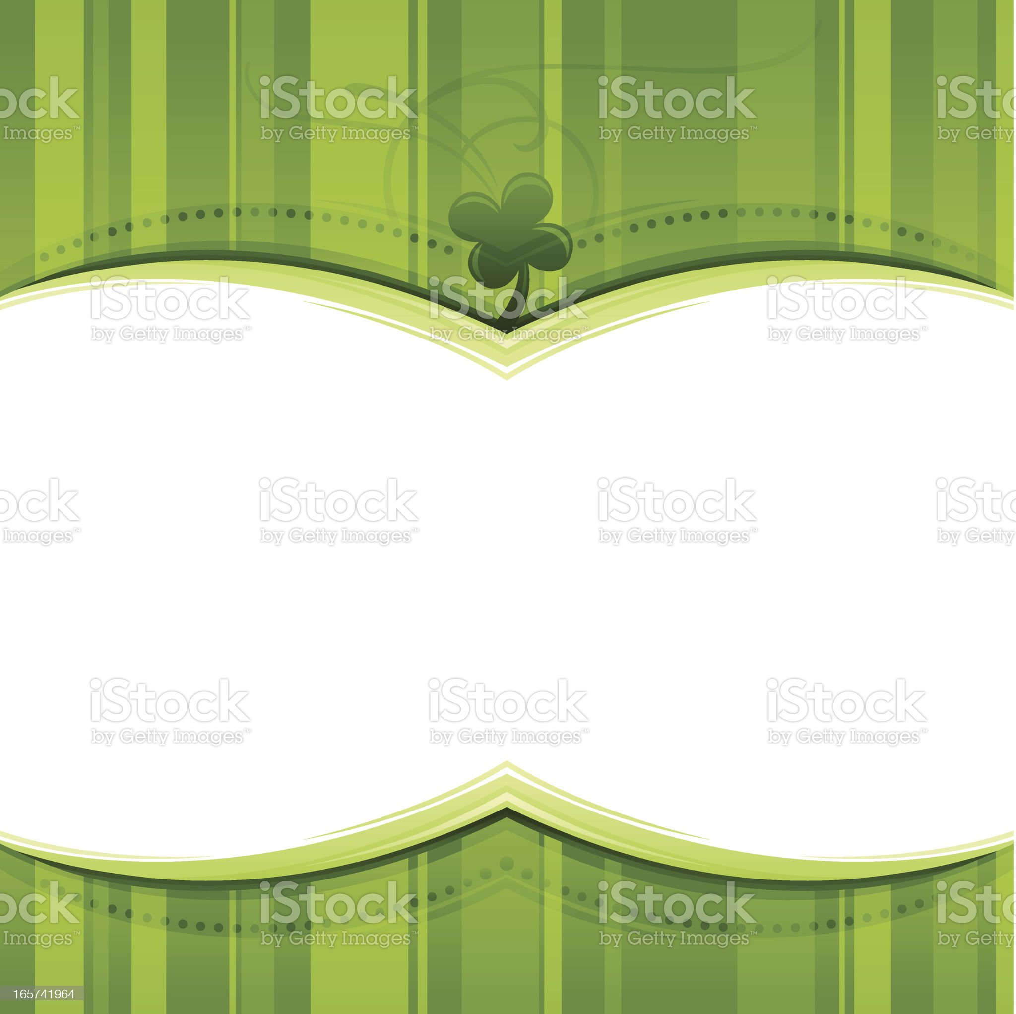 St. Patrick's Day Frame royalty-free stock vector art