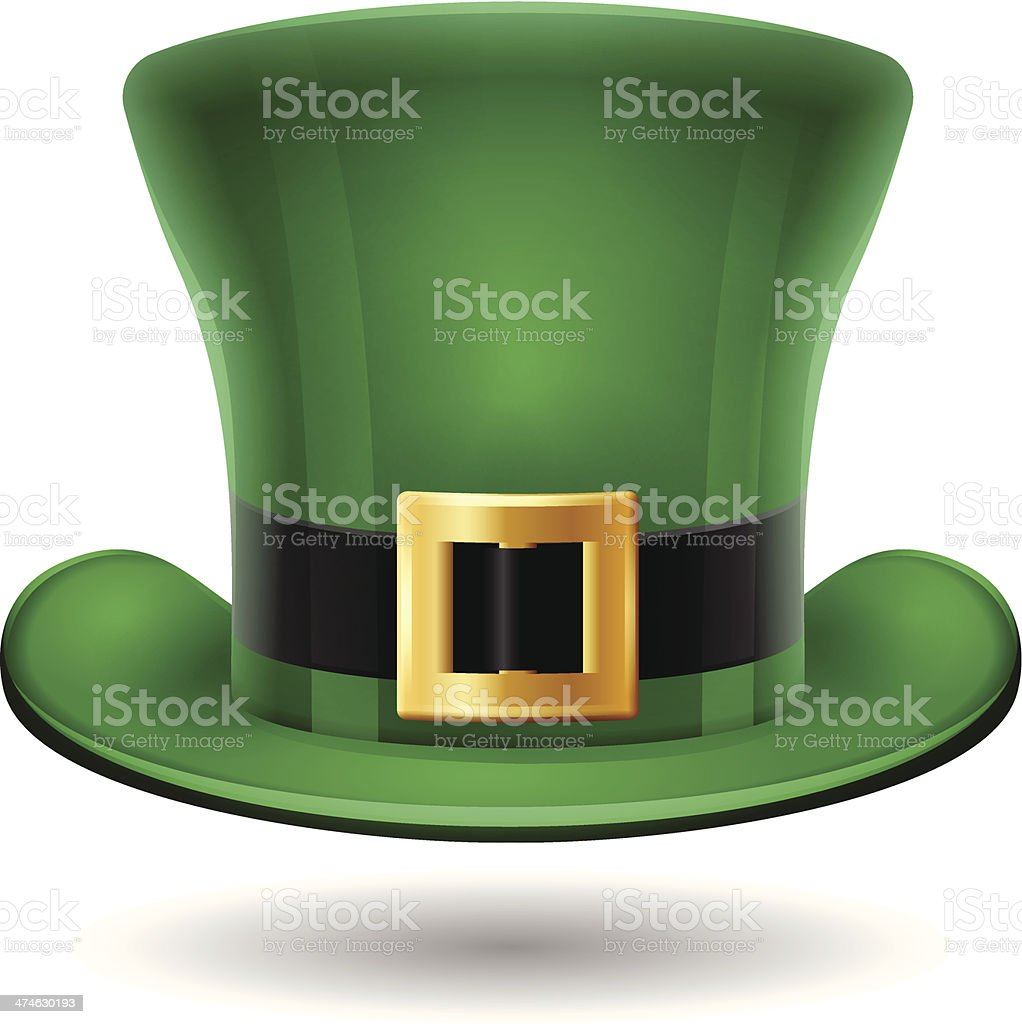 St. Patrick's Day Green Hat vector art illustration