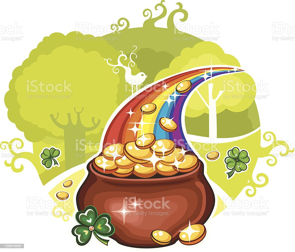 St. Patrick's Day greeting card royalty-free stock vector art