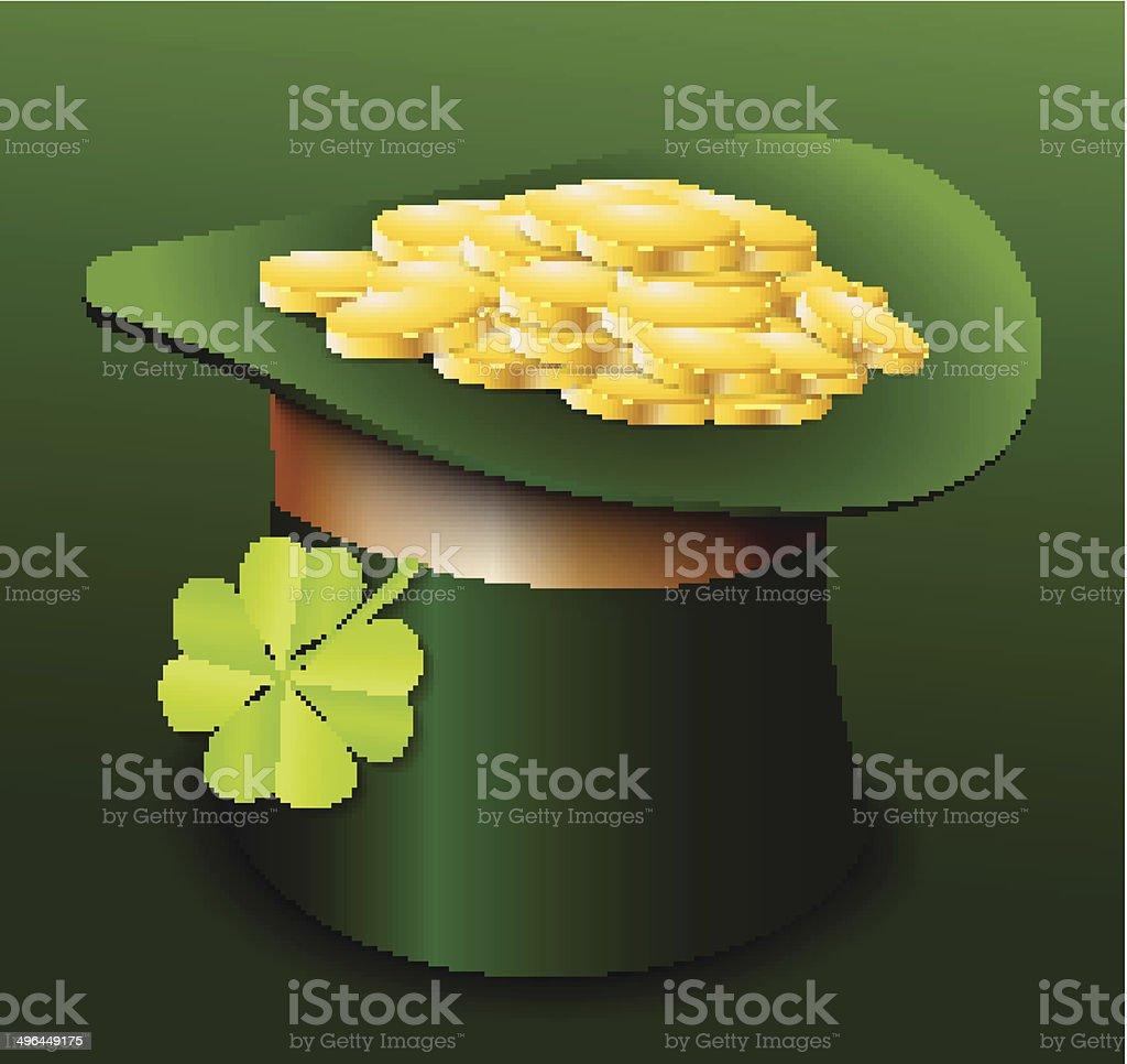 De la Saint-Patrick, avec trèfle stock vecteur libres de droits libre de droits